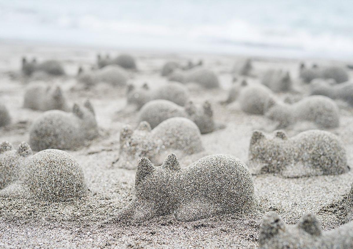 作って、見て、癒される。ネコのシルエットを砂で再現できるプロダクト「Neko Cup」