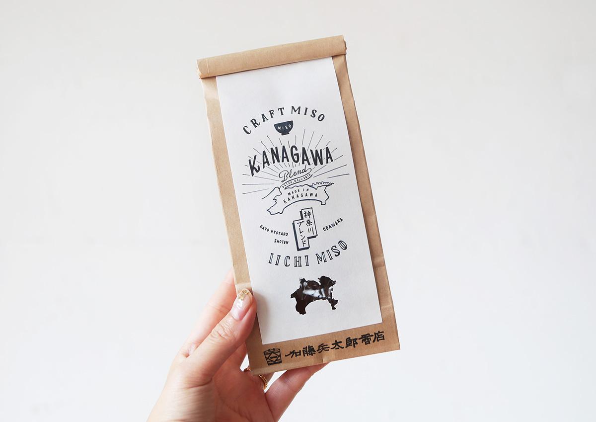 コーヒー豆のようなパッケージのお味噌を発見!神奈川県産の材料にこだわって作られた加藤兵太郎商店「神奈川ブレンド」