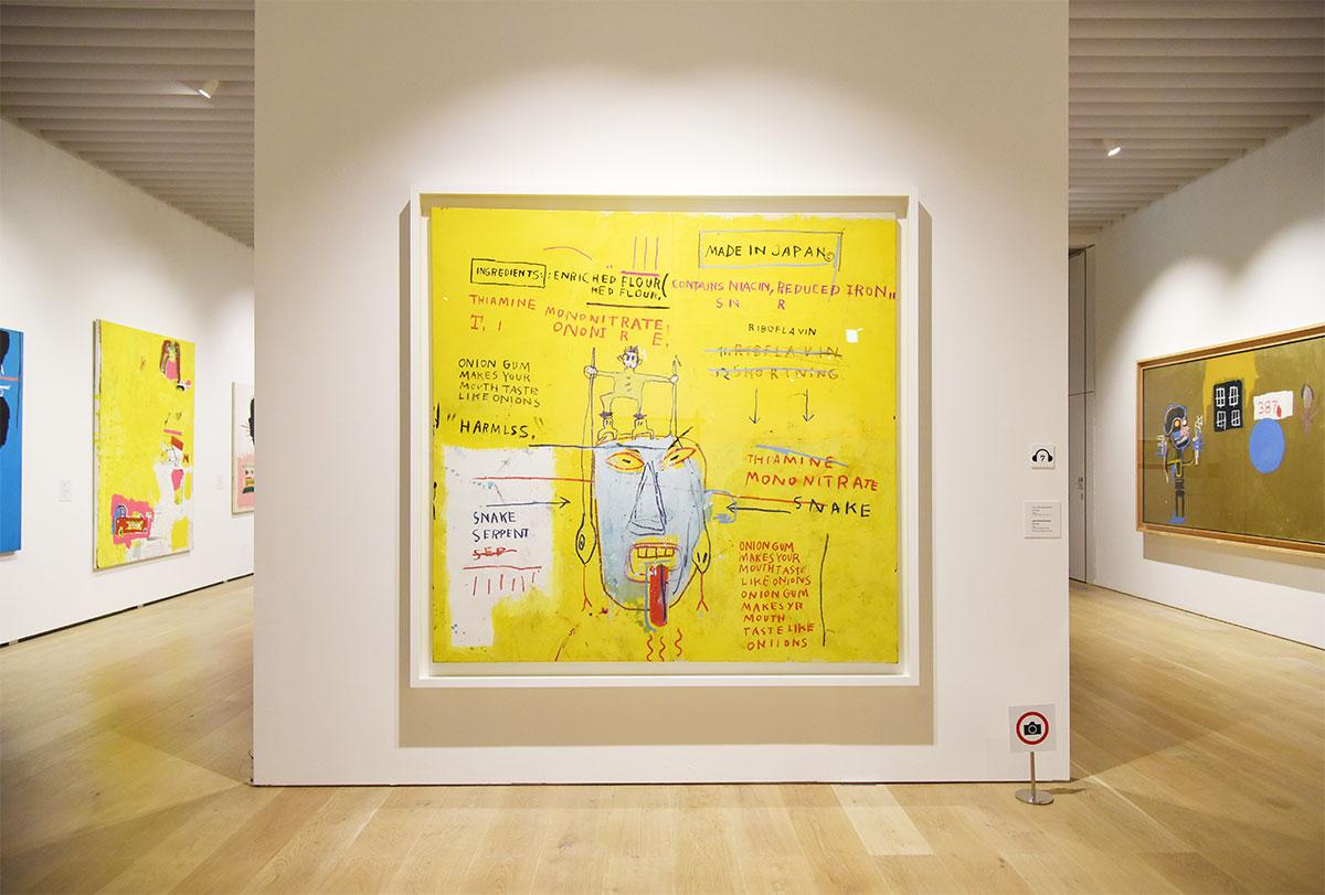 ジャン=ミシェル・バスキア《オニオンガム》(1983) Artwork © Estate of Jean-Michel Basquiat.Licensed by Artestar, New York
