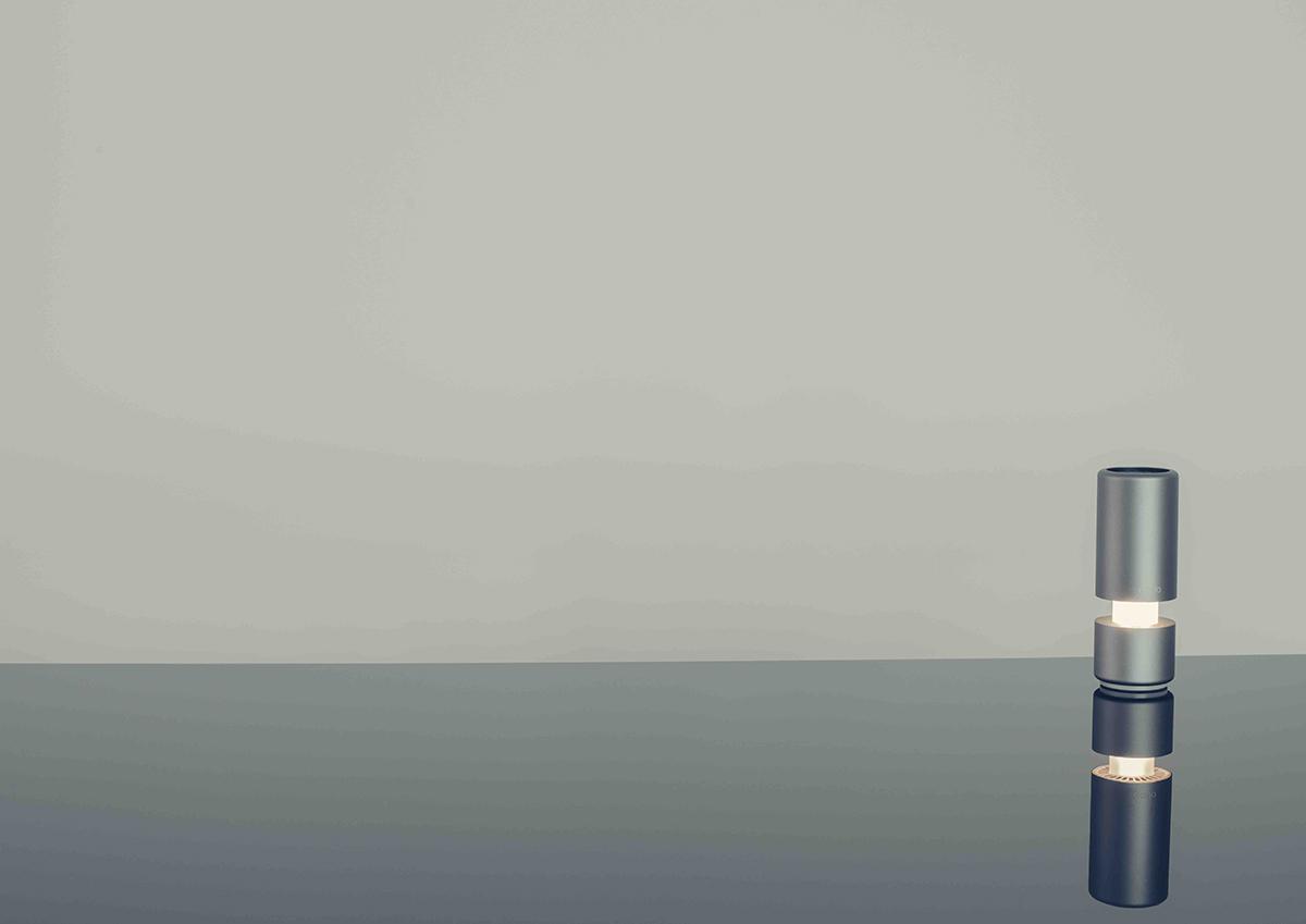 LEDランプ内蔵で、テーブルランプにも使用可能!cadoからポータブル空気清浄機「LEAF Portable」が誕生。