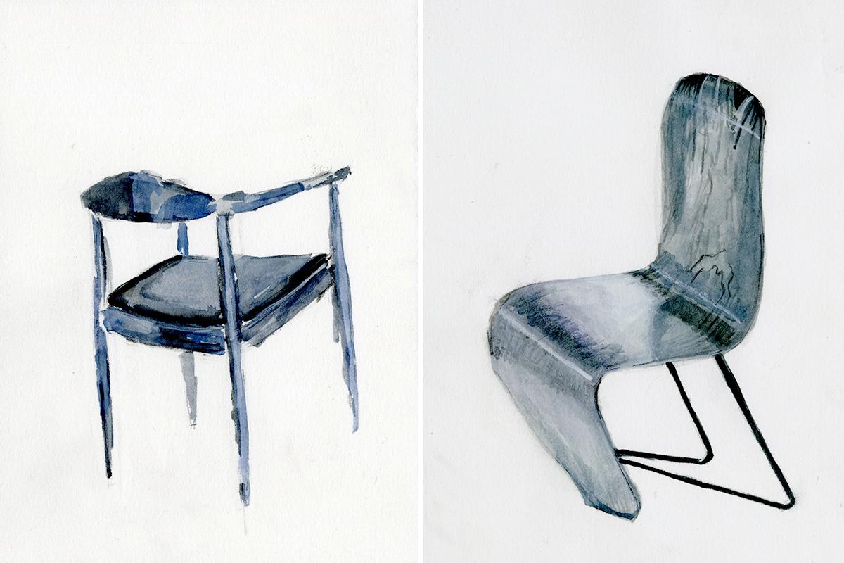 平野さんの椅子の絵