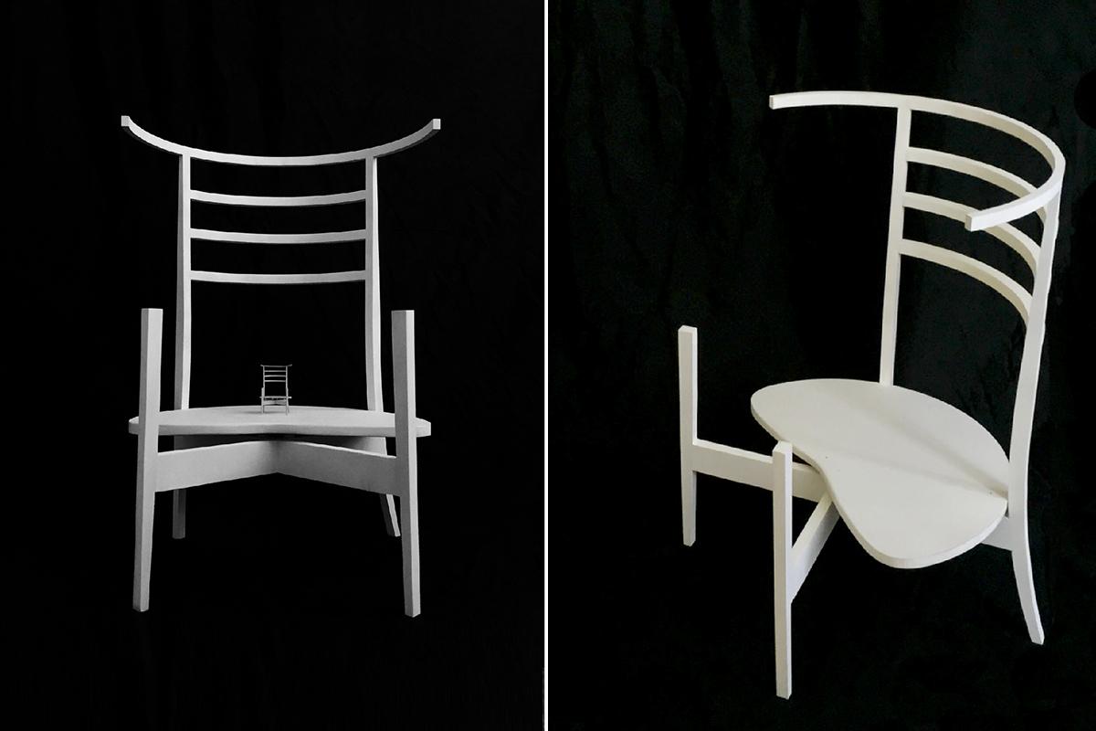 はじめて制作した椅子作品
