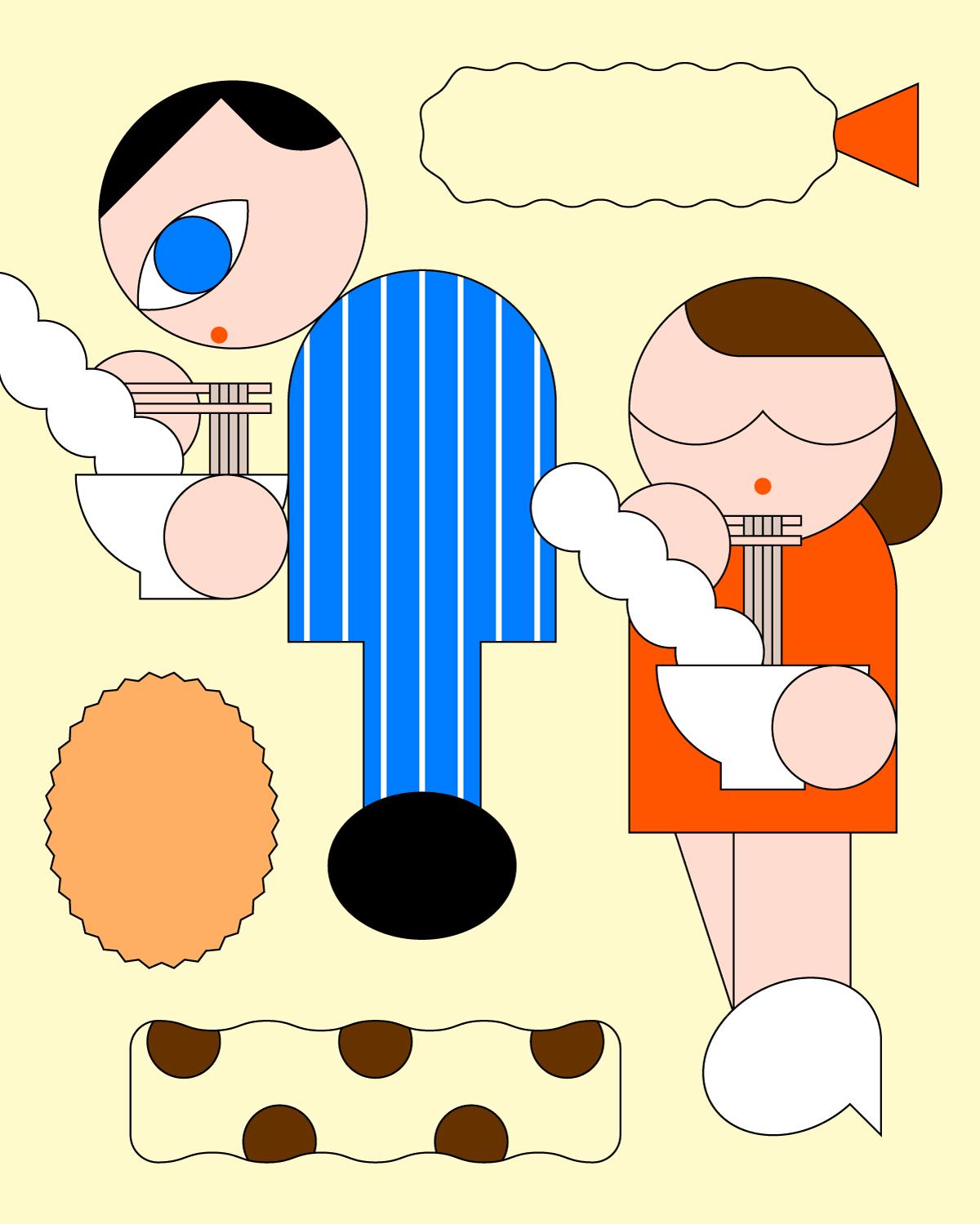 「食べログマガジン」( web ) 山口博之さん連載のイラスト