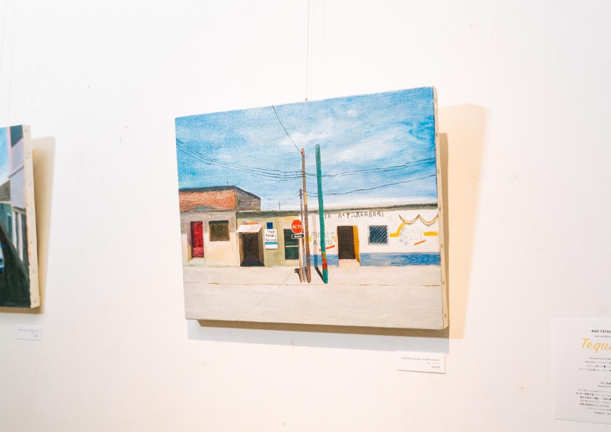 展示で飾られていた油絵で描かれた絵