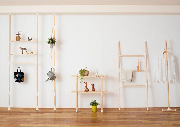 木材×パーツの組み合わせで欲しいサイズの家具が作れる「LABRICO」から、丸棒シリーズが新登場!