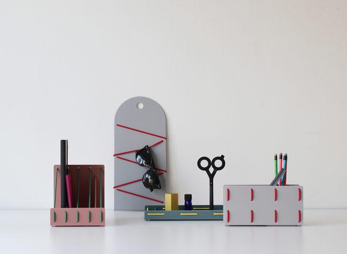 """""""紐""""の新しい使い方を提案。アクリルを一本の紐で縫うようにデザインされた「SEW」のインテリアアイテム。"""