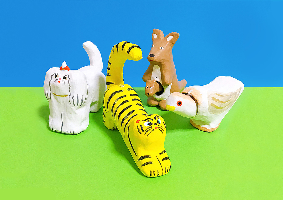 「DECO'S ZOO 〜animal folk art & toy〜」(福岡・山響屋)出品作品
