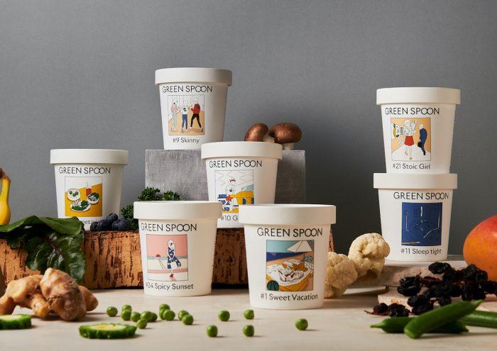 瞬間冷凍された栄養満点の野菜やフルーツを自宅にお届け。定額制パーソナルスムージー「GREEN SPOON」