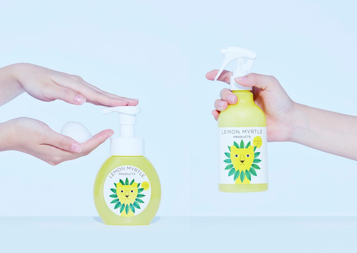 爽やかな香りで心までクリアに!「レモンマートル」のハンドソープ&消臭剤。