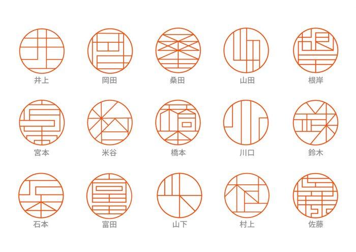 1つ1つの名字をデザイナーが丹念にデザイン。グラフィカルな印影が美しい印鑑「OOiNN」