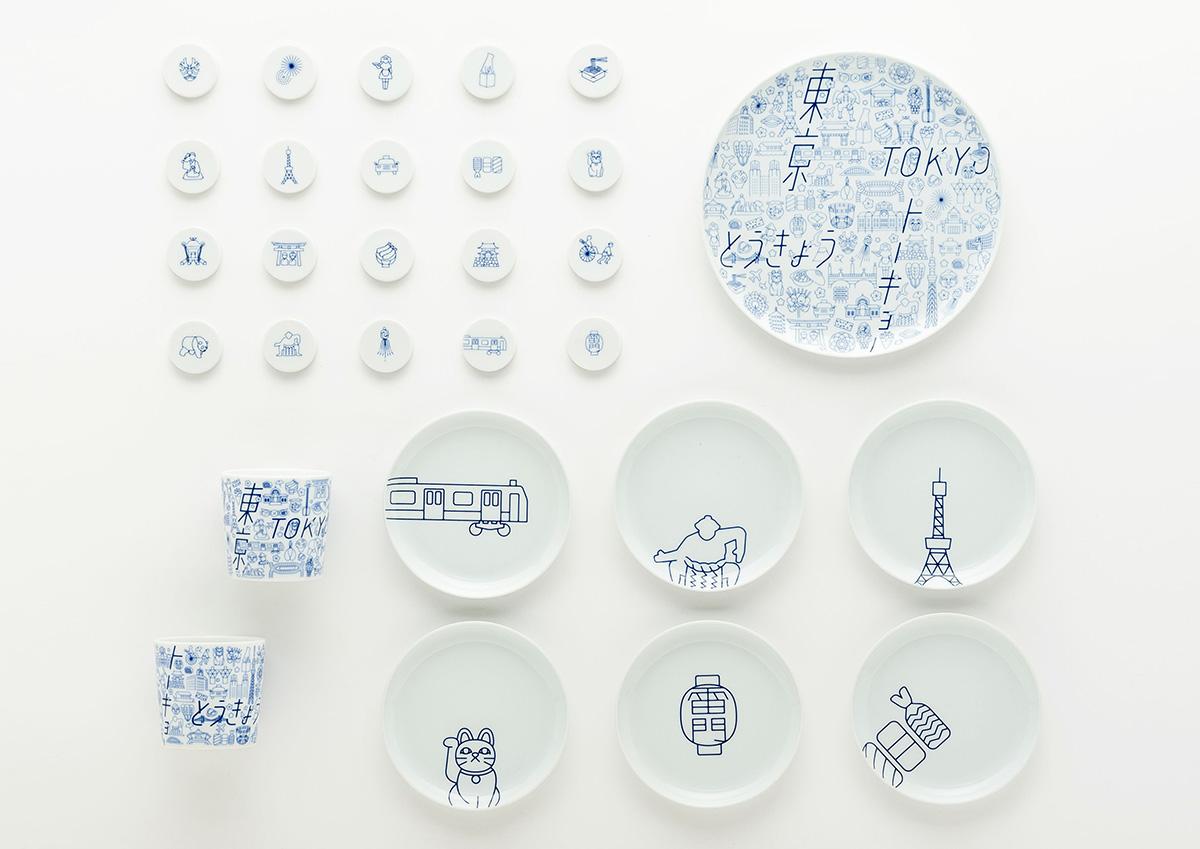 有田焼×東京の地域デザインコラボ。東京の魅力を69のアイコンで表現した「TOKYO ICON」の食器が気になる!