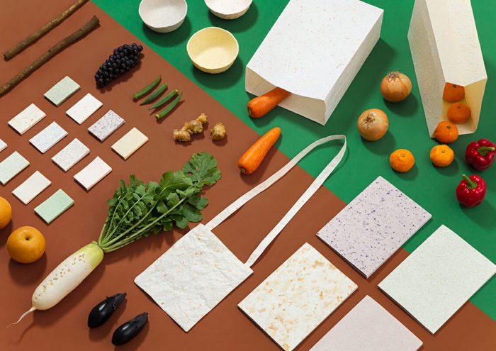 紙の新たな可能性を追求。廃棄された野菜や果物で作る紙文具ブランド「Food Paper」