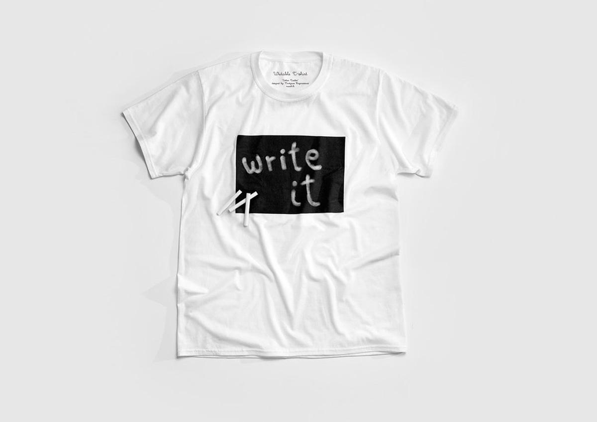 今まで見たことない!自由に文字を書き込めるTシャツ「Cotton Twitter Tシャツ」
