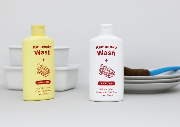 亀の子たわしの老舗が作った、手肌にも環境にも優しい台所用合成洗剤「Kamenoko Wash(亀の子ウォッシュ)」