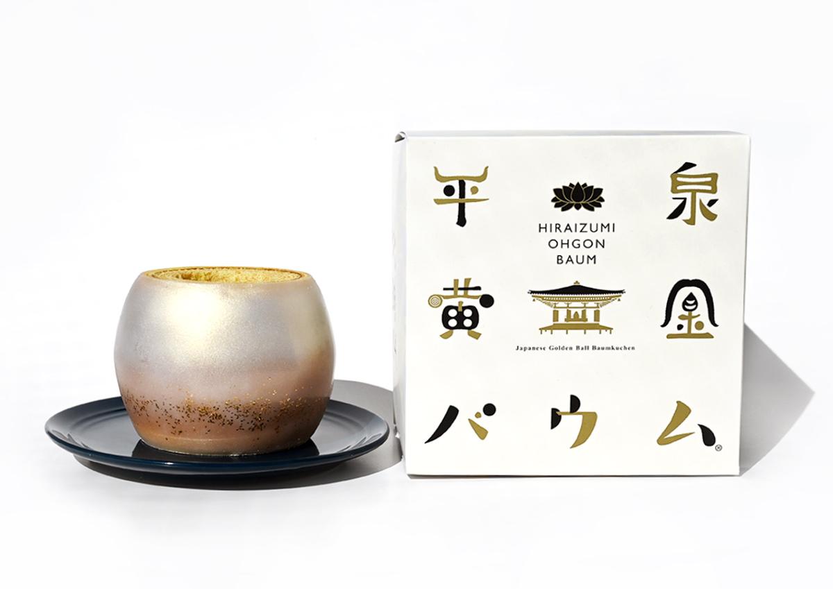 まるで陶器のような美しさ。岩手の黄金素材を使った「平泉黄金バウム」