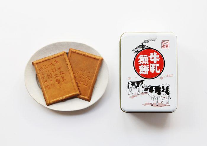 レトロな缶のパッケージが可愛い!東京・伊豆大島名産の「牛乳煎餅」