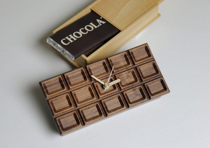 本物のチョコレートみたい!備えの大切さをさりげなく伝えるおしゃれな時計「もしもクロック/チョコレート」