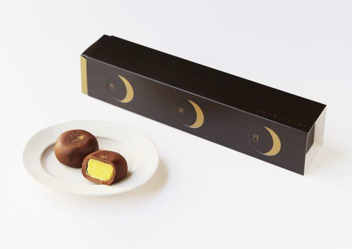 月の満ち欠けを表現したパッケージが素敵!お月さまのような、おまんじゅう。茨城県・亀じるしの「天満月」