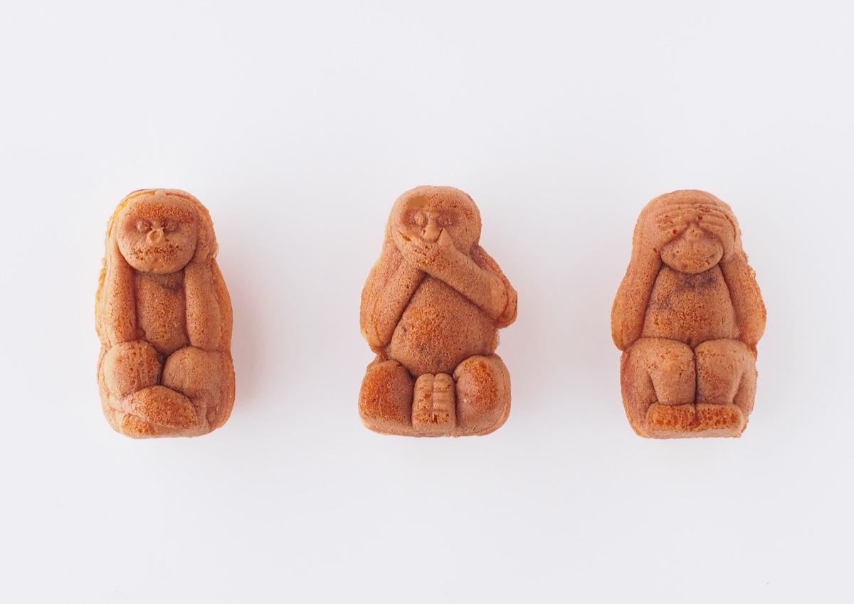 三猿がかわいい!まるで「食べる彫刻」と呼ばれる栃木・日光みしまやの「日光人形焼き」