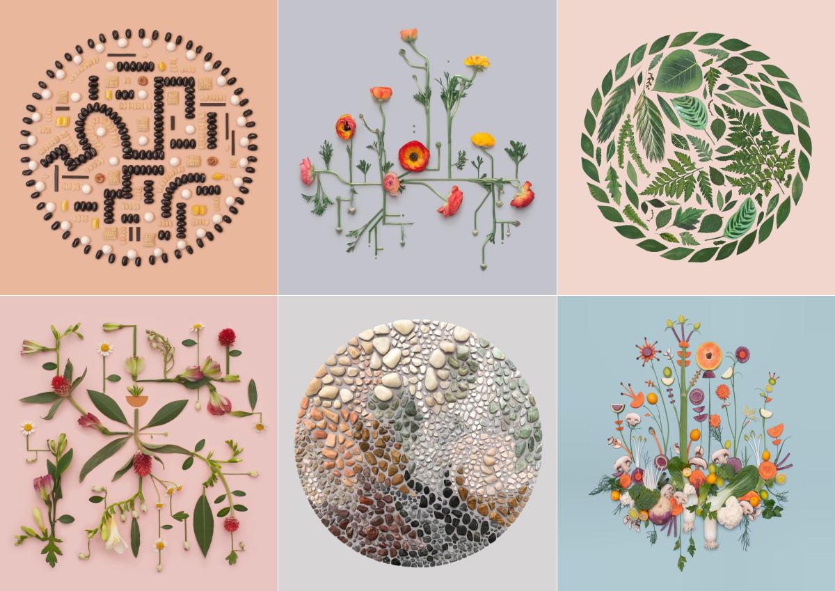 身の周りのアイテムで生み出された幾何学模様が美しい、Kristen Meyerさんのアート作品
