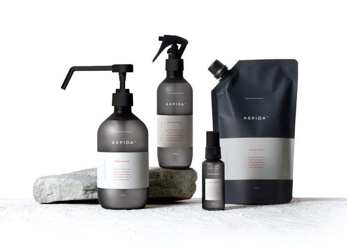 肌への優しさを第一に。スタイリッシュなデザインが魅力的な、除菌&洗浄スプレー 「ASPIDA(アスピダ)」