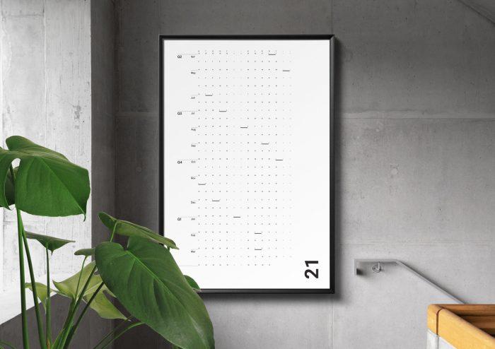 使い方は自由自在!365日をフラットに見れる、ポスターみたいなカレンダー「ミニマリストカレンダー」