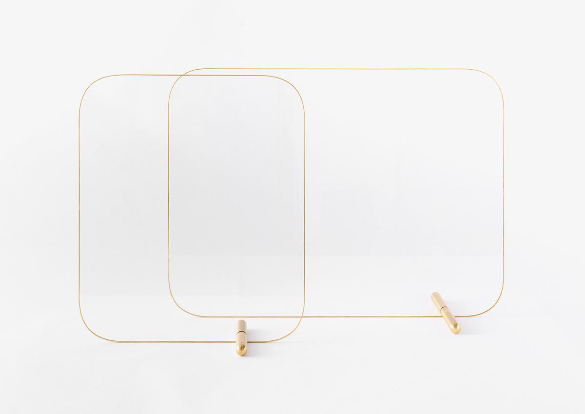 家具として置きたくなる、美しい飛沫感染防止パーティション「Q(キュー)」