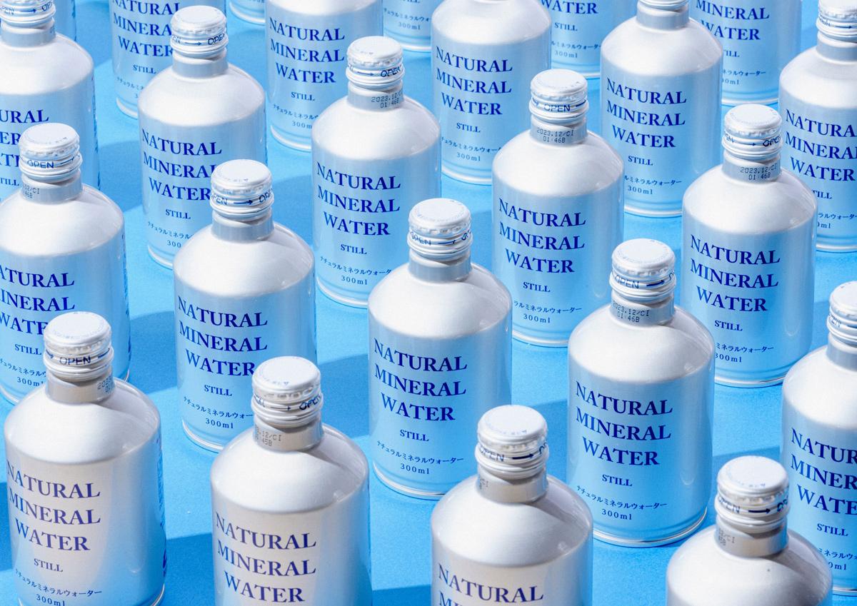 """リサイクル率の高い""""アルミ缶""""を使用。スタイリッシュで地球にやさしい「ナチュラルミネラルウォーター・アルミボトル缶」"""