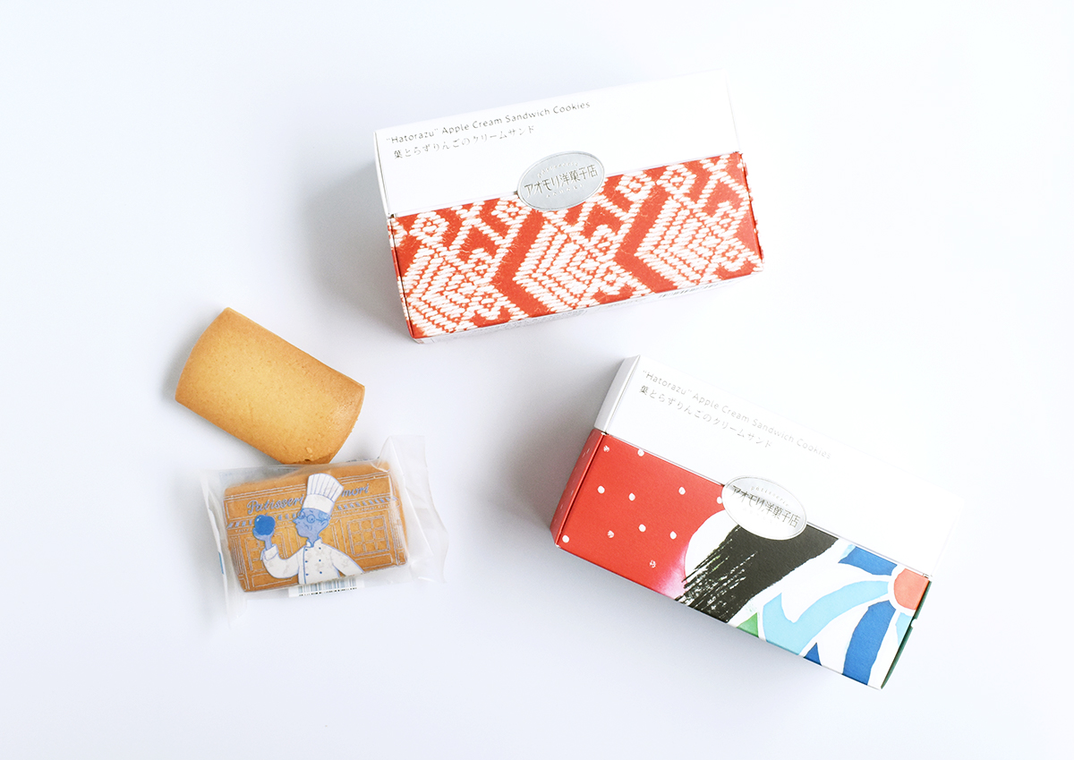 """""""こぎん刺し""""や""""ねぶた""""をデザインしたパッケージがかわいい!青森・アオモリ洋菓子店の「葉とらずりんご…"""