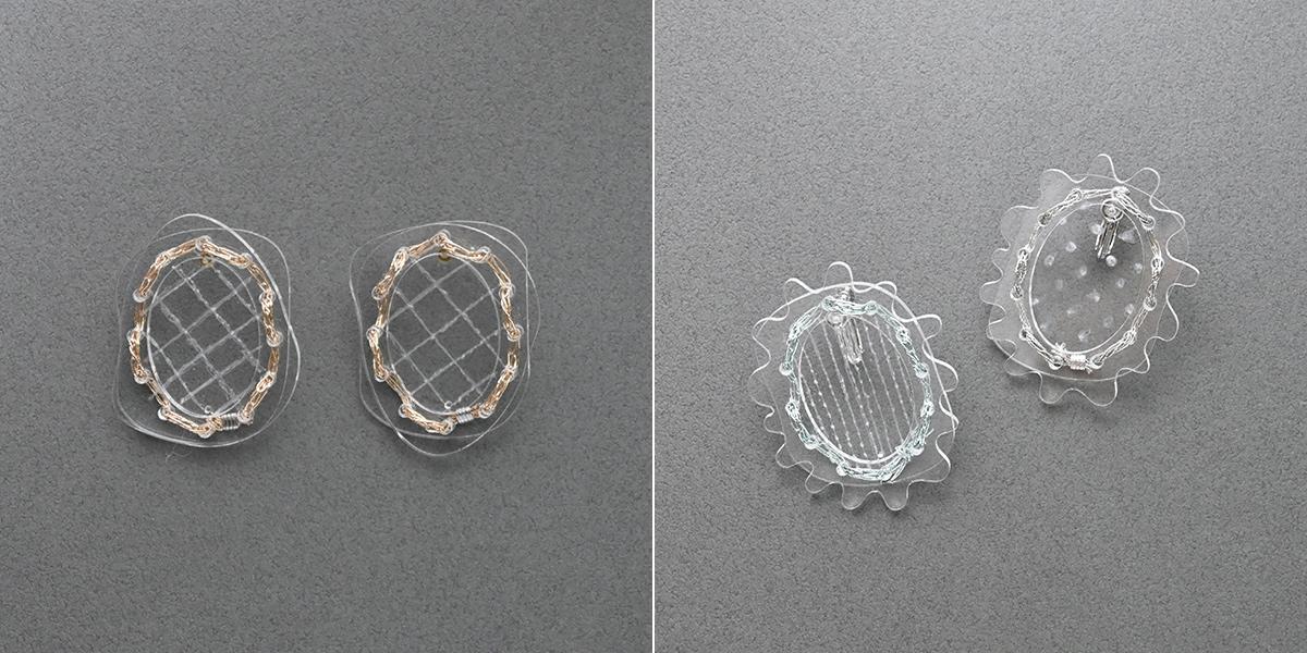 写真左:水滴型、写真右:フラワー型