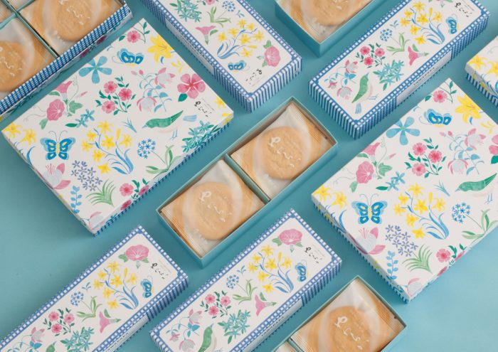 デザイナーとコラボ!老舗和洋菓子店梅林堂の「やわらかゴールドプレーン」が夏限定パッケージで登場。