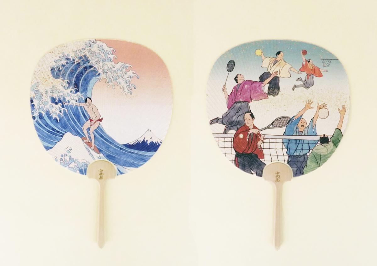 江戸時代に現代のスポーツがあったら?シュールな浮世絵が面白い「スポーツ京うちわ」