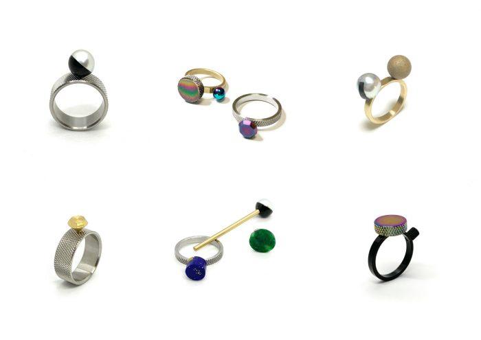 工業製品とアクセサリーが融合。リングと装飾をネジ式でカスタマイズできる指輪プロダクト「small factory ring」